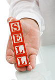 Businessman with blocks Stock Photography