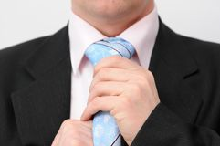 Businessman in blue tie. Royalty Free Stock Photography