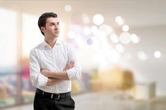 Businessman blurry interior Stock Photo