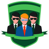 Businessman with body guards royalty free illustration