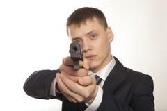 Businessman bodyguard Stock Image