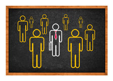 Businessman with bodyguards Stock Photography