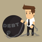 Businessman bonded pendulum debt Stock Images