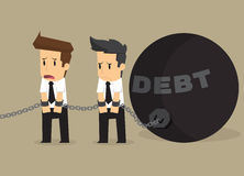 Businessman bonded pendulum debt Stock Photo