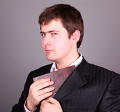 Businessman with book Royalty Free Stock Photography