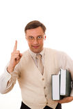 Businessman with a book Royalty Free Stock Photography