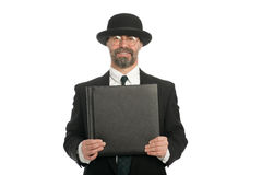 Businessman with a book Royalty Free Stock Image