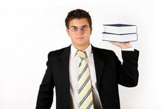 Businessman with book Stock Photos