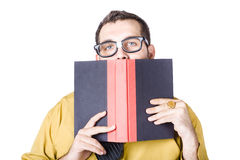 Businessman with book Stock Photo