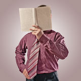 Businessman with book Royalty Free Stock Images