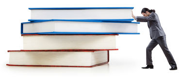 Businessman with books Royalty Free Stock Photos