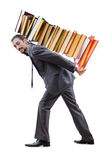 Businessman with books Royalty Free Stock Images