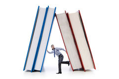 Businessman with books Royalty Free Stock Image