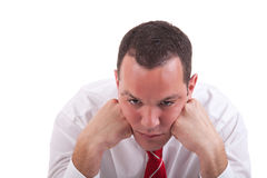 Businessman bored Stock Image
