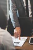 Businessman or boss complain Stock Image