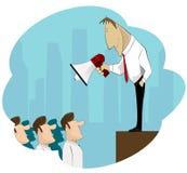 Businessman Boss Hold Megaphone Royalty Free Stock Image