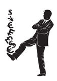 Businessman. Boss with money symbols Stock Image