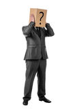 Businessman with a box Royalty Free Stock Photo