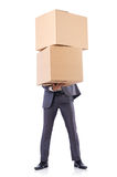Businessman with box Royalty Free Stock Photography