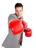 Businessman boxer Royalty Free Stock Photography