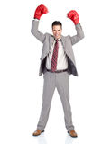 Businessman boxer Stock Image