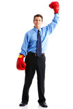 Businessman boxer Stock Images