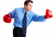 Businessman boxer Royalty Free Stock Image