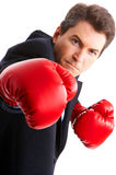 Businessman boxer Stock Photo