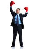 Businessman boxer Stock Photo