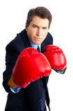 Businessman boxer Stock Photography