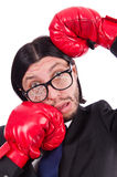 Businessman boxer isolated Stock Image