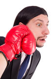 Businessman boxer isolated Royalty Free Stock Photo