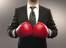 Businessman boxing Royalty Free Stock Images