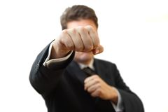 Businessman is  boxing Stock Image