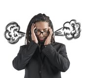Businessman brain in smoke Royalty Free Stock Images
