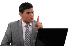 Businessman brainstorming Stock Photography