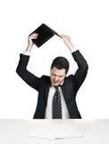 Businessman break laptop Stock Photos