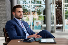 Businessman on a break Stock Image