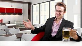 Businessman on Break Royalty Free Stock Image