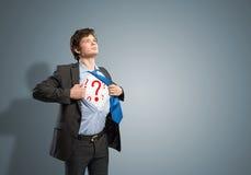 Businessman breaks the shirt Stock Photography