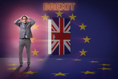 The businessman in brexit concept - uk leaving eu Royalty Free Stock Photography