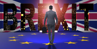The businessman in brexit concept - uk leaving eu Royalty Free Stock Photos