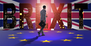 The businessman in brexit concept - uk leaving eu Royalty Free Stock Images