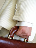 Businessman with brief case Royalty Free Stock Image
