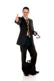 Businessman briefcase Stock Images