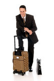 Businessman briefcase Stock Photography