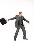 Businessman with a briefcase Royalty Free Stock Photography
