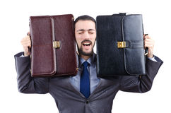 Businessman with briefcase Stock Photos