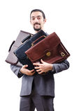 Businessman with briefcase Royalty Free Stock Image
