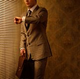 Businessman with briefcase Stock Photography